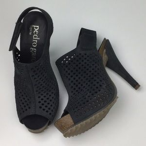 Pedro Garcia   Persis Suede Perforated Sandals